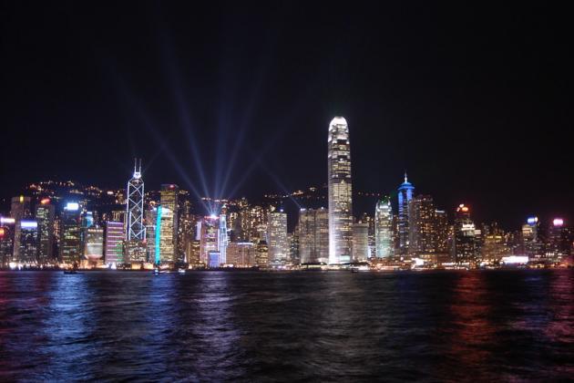 Skyline of Hongkong at night